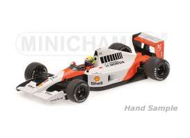 Minichamps - McLaren Honda - mc435910001 : 1991 McLaren Honda MP 4/6 *Ayrton Senna* Winner Monaco GP, white/orange