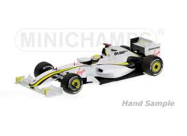 Minichamps - Brawn GP  - mc436090022 : 2009 Brawn GP BGP001 *Jenson Button* World Champion, white/yellow