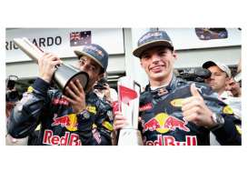 Minichamps - Red Bull Racing   - mc472163303 : 2015 Red Bull Racing Tag Heuer RB12 *Ricciardo/Verstappen* 2-car set 1-2 Finish Malaysian GP *Resin Series*,