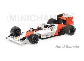 Minichamps - McLaren Honda - mc537884311 : 1988 McLaren Honda MP4/4 *Alain Prost* Winner Brazilian GP *Resin Series*, white/orange