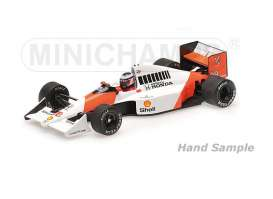Minichamps - McLaren Honda - mc537904328 : 1989 McLaren Honda MP4/5B *Gerhard Berger* USA GP *Resin Series*, white/orange