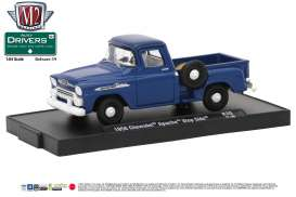 M2 Machines - Chevrolet  - M2-11228-39A : 1958 Chevrolet Apache Step Side Truck *M2-Drivers Release 39*, marina blue