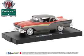 M2 Machines - Ford  - M2-11228-39B : 1957 Ford Fairlane 500 *de M2-Drivers Release 39*,  grey metallic/red