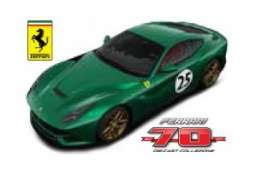 Bburago - Ferrari  - bura76310-11 : Ferrari F12 Berlinetta #25  The Green Jewel *Limited edition 70 years Bburago Ferrari*, green metallic