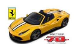 Bburago - Ferrari  - bura76310-10 : Ferrari 488 Spider A is for Aperta *Limited edition 70 years Bburago Ferrari*, yellow/white