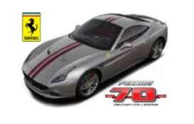 Bburago - Ferrari  - bura76310-08 : Ferrari California T The Masterpiece *Limited edition 70 years Bburago Ferrari*, silver/red