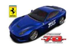 Bburago - Ferrari  - bura76310-03 : Ferrari F12 Berlinetta #235 The Heartthrob *Limited edition 70 years Bburago Ferrari*, blue metallic
