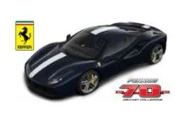 Bburago - Ferrari  - bura76201 : Ferrari 488 GTB The Record Breaker *Limited edition 70 years Bburago Ferrari*, dark blue/white