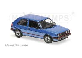 Maxichamps - Volkswagen  - mc940054120 : 1985 Volkswagen Golf GTI, blue metallic