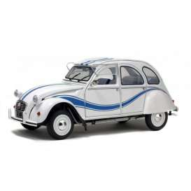 Solido - Citroen  - soli1850011 : 1/18 Citroen 2CV6 France, white/blue