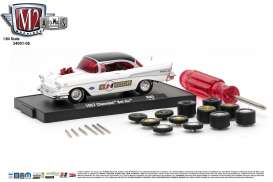 M2 Machines - Chevrolet  - M2-34001-05A : 1957 Chevrolet Bel Air *Auto-Wheels release 5*, bright white/gloss black