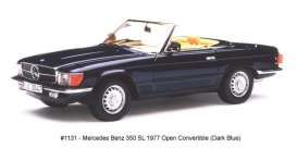 Mercedes Benz  - 350 SL open convertible 1977 blue - 1:18 - SunStar - sun1131 | Tom's Modelauto's