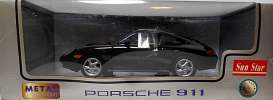 Porsche  - 996 Carrera coupe 1998 black - 1:18 - SunStar - 1202 - sun1202 | Tom's Modelauto's
