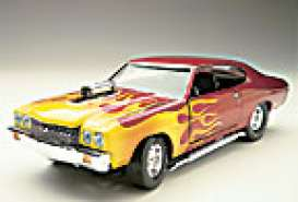 Chevrolet  - 1970 red/yellow flames - 1:24 - Testors - tess0224 | Tom's Modelauto's