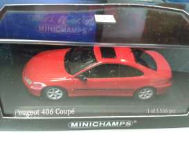 Peugeot  - 1996 red - 1:43 - Minichamps - 430112625 - mc430112625 | Toms Modelautos