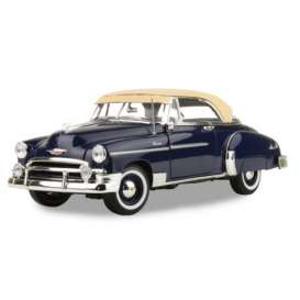 Chevrolet  - Bel Air 1950 dark blue - 1:18 - Motor Max - 73111b - mmax73111b | Tom's Modelauto's