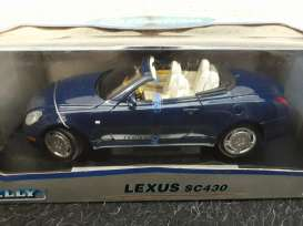 Lexus  - SC430 2003 blue - 1:18 - Welly - 12518 - welly12518b | Tom's Modelauto's