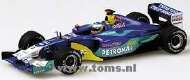 Sauber  - 2003 blue - 1:43 - Minichamps - 400030079 - mc400030079 | Tom's Modelauto's