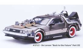 Delorean  - *Back to the Future III* 1987 stainless steel - 1:18 - SunStar - 2712 - sun2712 | Toms Modelautos