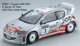 SunStar - Peugeot  - sun3854 : Peugeot 206 WRC Rally Great Britain #1 R.Burns/Reid