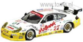 Porsche  - 2003 white/yellow - 1:43 - Minichamps - 400036923 - mc400036923 | Tom's Modelauto's