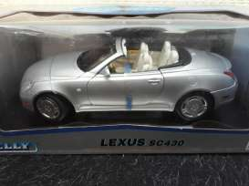 Lexus  - SC430 2003 silver - 1:18 - Welly - 12518 - welly12518s | Tom's Modelauto's