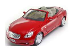 Lexus  - SC430 2003 red - 1:18 - Welly - 12518 - welly12518r | Tom's Modelauto's