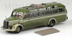 Mercedes Benz  - 1950 green - 1:43 - Minichamps - 439360007 - mc439360007 | Tom's Modelauto's