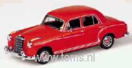 Mercedes Benz  - 1956 red - 1:43 - Minichamps - 430033004 - mc430033004 | Tom's Modelauto's