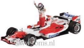 Toyota  - 2005 red/white - 1:43 - Minichamps - 400050116 - mc400050116 | Tom's Modelauto's