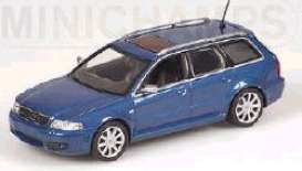 Audi  - metallic blue - 1:43 - Minichamps - 430019315 - mc430019315 | Tom's Modelauto's