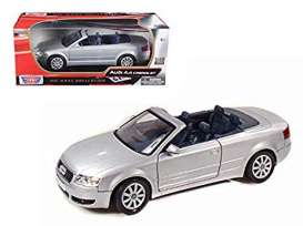 Audi  - 2004 silver - 1:18 - Motor Max - 73148s - mmax73148s | Toms Modelautos