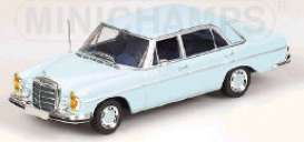 Mercedes Benz  - 1968 light blue - 1:43 - Minichamps - 430039108 - mc430039108 | Tom's Modelauto's