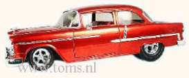Chevrolet  - 1955 red - 1:18 - Hotwheels - mvH8771 - hwmvH8771 | Tom's Modelauto's