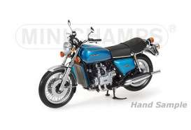 Minichamps - Honda  - mc122161600 : 1975 Honda Gold Wing, blue/green