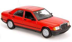 Mercedes Benz  - 1984 red - 1:43 - Minichamps - 400034102 - mc400034102 | Tom's Modelauto's