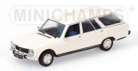 Peugeot  - 1970 white - 1:43 - Minichamps - 400112510 - mc400112510 | Tom's Modelauto's