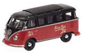 Volkswagen  - 1963 red/black - 1:43 - Minichamps - 430052304 - mc430052304 | Tom's Modelauto's