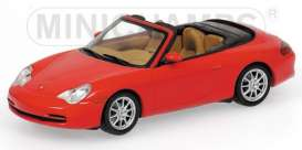 Minichamps - Porsche  - mc400061034 : 2001 Porsche 911 Cabriolet, red