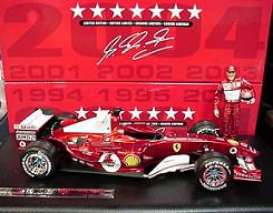 Ferrari  - 2004 red chrome - 1:18 - Hotwheels - mvB6220 - hwmvB6220 | Toms Modelautos