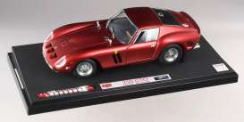 Hotwheels Elite - Ferrari  - hwmvL2972 : 1962 Ferrari 250 GTO *Elite Serie 60th Anniversary*, F1 cherry red