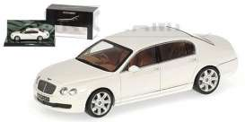 Bentley  - 2005 white - 1:43 - Minichamps - 436139461 - mc436139461 | Tom's Modelauto's