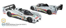 Peugeot  - 905 1993 white/black - 1:18 - Norev - 184773 - nor184773 | Tom's Modelauto's