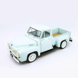 Ford  - F-100 1953 light green - 1:18 - Lucky Diecast - 92148 - ldc92148lgn | Tom's Modelauto's