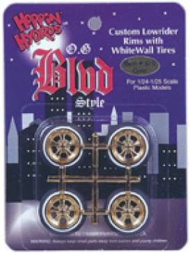 Rims & tires Wheels & tires - gold - 1:24 - Hoppin Hydro - s0515 - hops0515 | Tom's Modelauto's