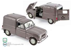 Renault  - 4 Fourgonnette 1965 grey - 1:18 - Norev - 185190 - nor185190 | Toms Modelautos