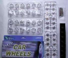 Rims & tires Wheels & tires - chrome - 1:24 - Wheels - 2003 - wheels2003ch | Toms Modelautos