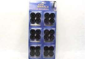 Rims & tires Wheels & tires - black - 1:24 - Wheels - 2003B - wheels2003Bbk | Toms Modelautos