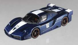 Ferrari  - 2006 blue W/white stripes - 1:43 - Hotwheels Elite - mvN5606 - hwmvN5606 | Toms Modelautos