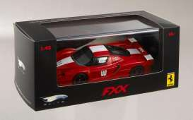 Ferrari  - 2006 red w/white stripes - 1:43 - Hotwheels Elite - mvN5607 - hwmvN5607 | Tom's Modelauto's